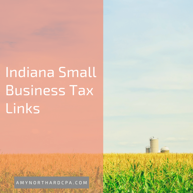 Indiana Small Business Tax Links