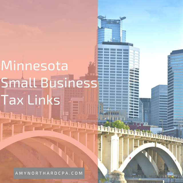 Minnesota Small Business Tax Links