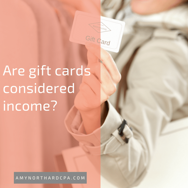 do gift card sales count as income