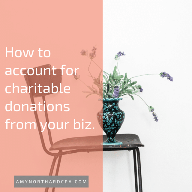 charitable donations from business