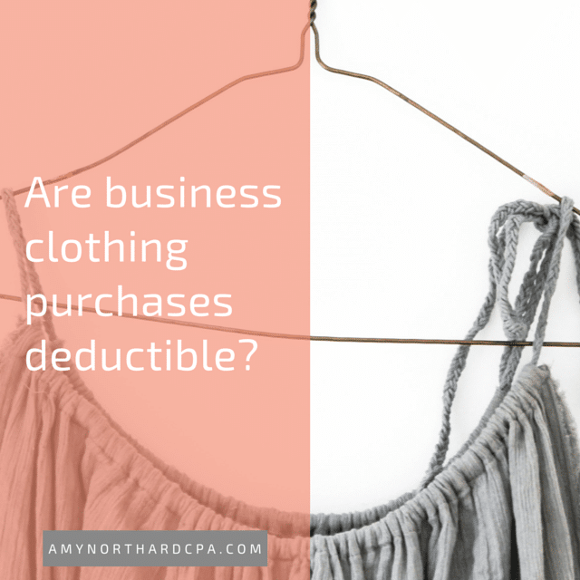 can I deduct clothing purchases as a business expense?
