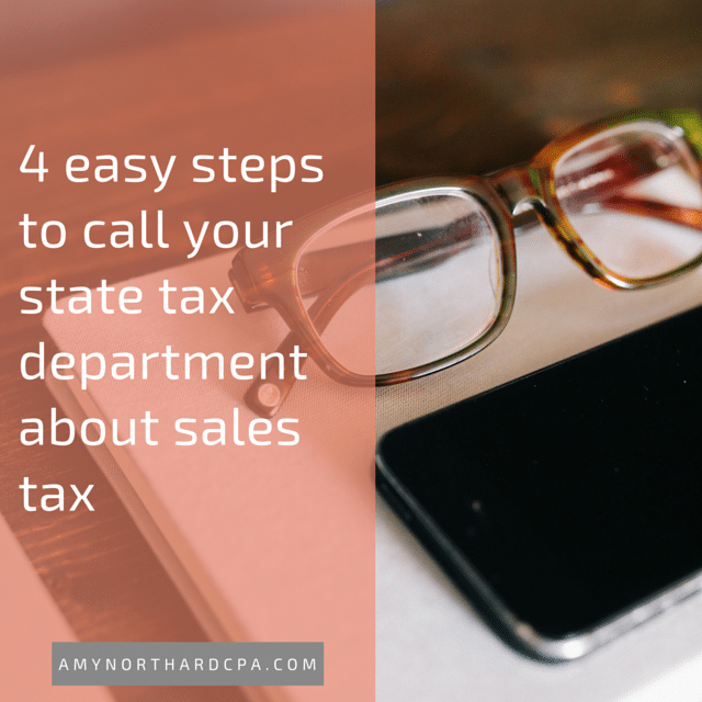 how to call your state department of revenue about sales tax