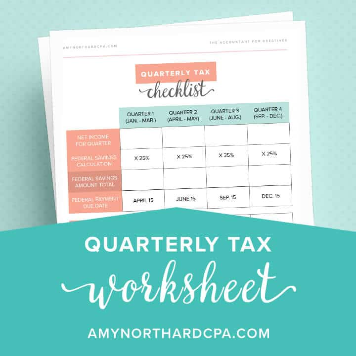 Quarterly Tax Payment Calculator Amy Northard CPA The – Tax Payment Report Worksheet