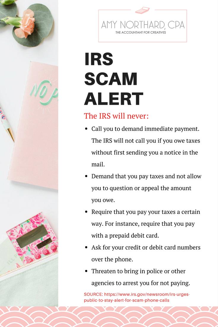 IRS Scam Alert
